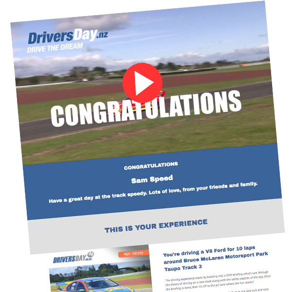 V8 Holden Drive Video Voucher Taupo
