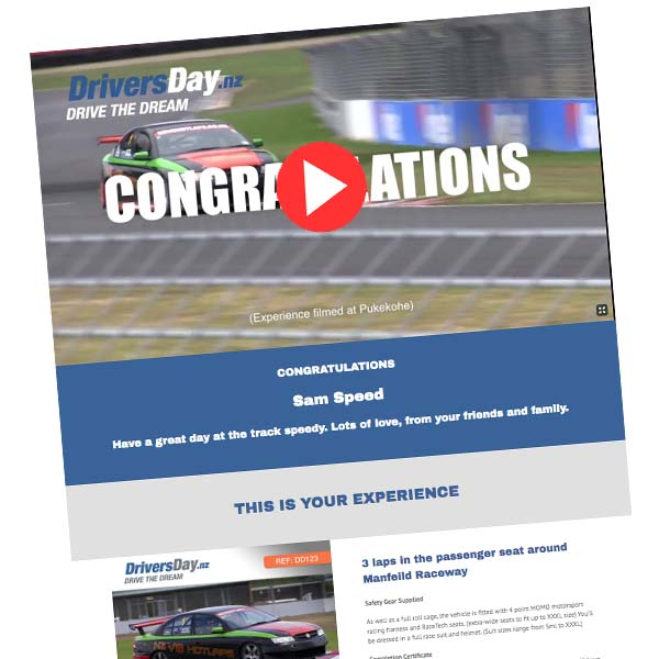V8 Hot Laps Video Voucher Pukekohe