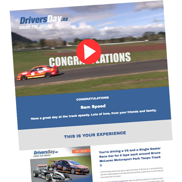 SV8 and Single Seater Drive  Video Voucher